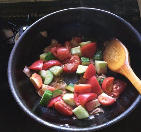 夏野菜たっぷりスープ